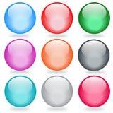 Glansiga knappar för vektor Arkivfoto