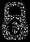 Glansiga Mesh Carcass Euro Weight med signalljusfläckar vektor illustrationer