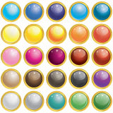25 glansiga Mesh Glass Button Royaltyfri Fotografi
