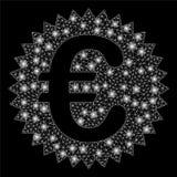 Glansiga Mesh Network Euro Warranty Stamp med pråliga fläckar vektor illustrationer