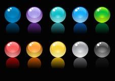 glansiga spheres Royaltyfria Bilder