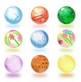glansiga spheres Vektor Illustrationer