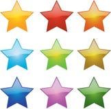 glansiga stjärnor Royaltyfria Foton