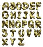 Glansigt alfabet Arkivbild