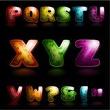 Glansigt alfabet Arkivfoton