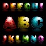 Glansigt alfabet Royaltyfri Foto