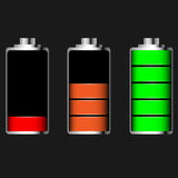 Glansigt batteri för vektor Royaltyfri Foto