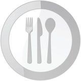 glansigt restaurangtecken stock illustrationer
