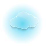 Glansigt skinande dröm- moln Royaltyfri Bild