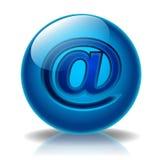 glansowana adres ikona Zdjęcia Royalty Free