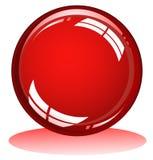 glansowana czerwona sfera Obraz Royalty Free
