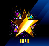 glansowana gwiazda Zdjęcia Royalty Free