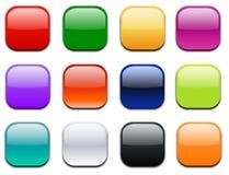 glansowana ikon druku kwadrata sieć Obrazy Royalty Free