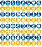 glansowana ikon serii sieć Zdjęcie Stock