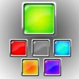 Glansowana ikona - znak zapytania Zdjęcia Royalty Free