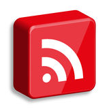 glansowana ikony rss sieć Fotografia Stock