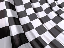 glansowana końca bandery race Zdjęcie Stock