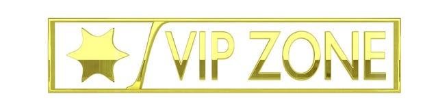 Glansowana złota vip strefy ikona - 3D odpłacają się odosobniony dalej Zdjęcie Royalty Free