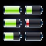 Glansowane bateryjne ikony ustawiać Fotografia Stock