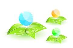 glansowane eco ikony Ilustracja Wektor