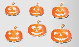 Glansowane Halloween banie ustawiać Obrazy Stock