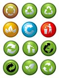 glansowane ikony przetwarzają wektor Fotografia Stock