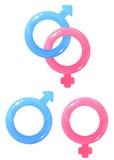 Glansowane rodzaju symbolu ikony Zdjęcia Royalty Free