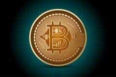 Glansowani bitcoin kształta sceny biznesu pojęcia Zdjęcia Stock