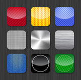 Glansowani i kruszcowi app ikony szablony Obrazy Stock