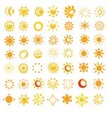 glansowani wizerunki ustawiający słońce Zdjęcie Royalty Free