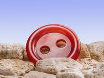 Glansowany czerwony guzik Zdjęcie Stock