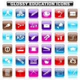 Glansowany edukacja guzik Zdjęcie Royalty Free