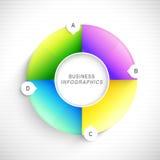Glansowany infographic element dla biznesu Obraz Stock