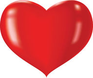 glansowany serce Obrazy Stock
