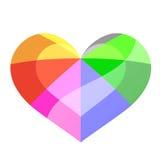 Glansowany tęczy colour serce ilustracji