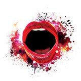 glansowany usta Fotografia Stock