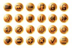 glansowanych ikon multimedialna sfery sieć Fotografia Stock