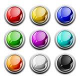 glansowanych ikon nowożytny próbek wektor Zdjęcia Stock