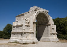 Glanum - Saint-Remy-de-Provence: O arco triunfal Fotografia de Stock Royalty Free