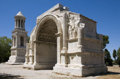 Glanum - The triumphal arch and Cenotaph Royalty Free Stock Image