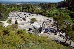 Glanum, vue aérienne Image stock