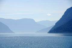 Glanz-Fjord, Norwegen Lizenzfreie Stockbilder