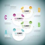 Glanz-weißer Schritt Infographic Stockbilder