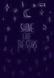 Glanz wie die Sterne, Motivationsplakat vektor abbildung