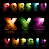 Glanzend alfabet Stock Foto's