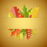 Glanzend Autumn Natural Leaves Background Vector Royalty-vrije Stock Foto's