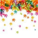 Glanzend Autumn Natural Leaves Background Vector Royalty-vrije Stock Fotografie