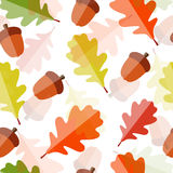 Glanzend Autumn Natural Leaves Seamless Pattern Royalty-vrije Stock Foto's