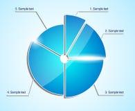 Glanzend bedrijfscirkeldiagram. Vectordiagram. Royalty-vrije Stock Afbeelding