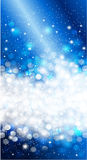 Glanzend Blauw van de Kerstmisuitnodiging ontwerp als achtergrond Royalty-vrije Stock Fotografie